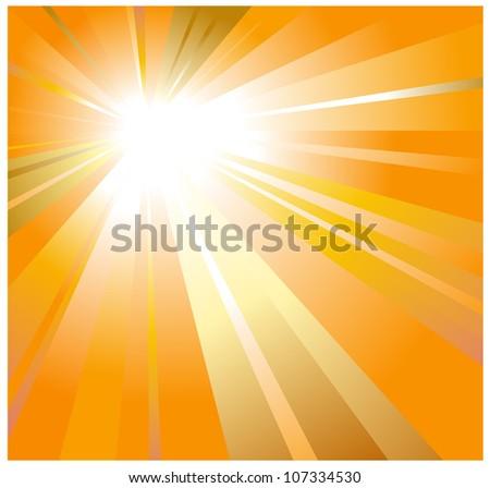 solar background - stock vector