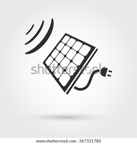 Solar Cell Panel. Energy - stock vector