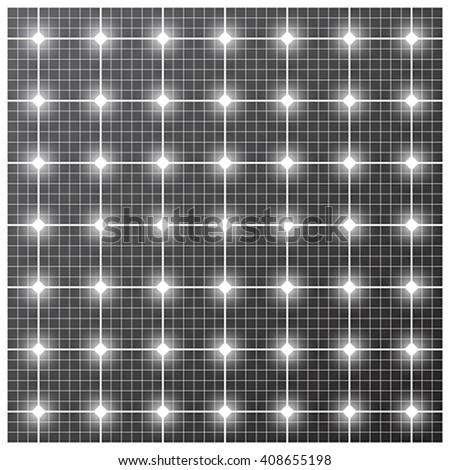 Solar cell pattern, vector - stock vector