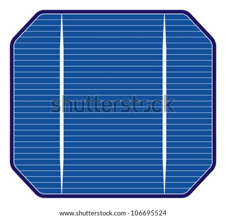 Solar cell. Vector illustration of photovoltaic cell, fully editable. - stock vector