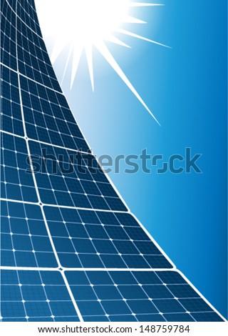 Solar collector background - stock vector