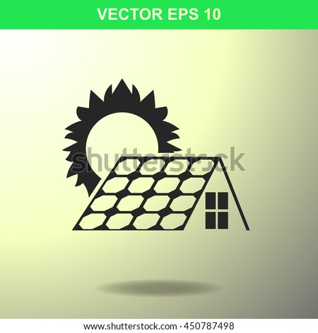Solar collector icon. Illustration for business. - stock vector