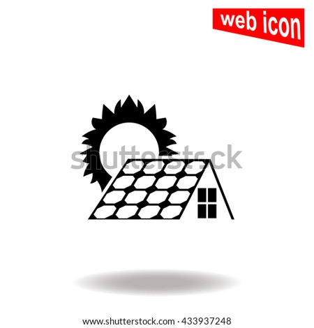 Solar collector icon. Universal icon to use in web and mobile UI - stock vector
