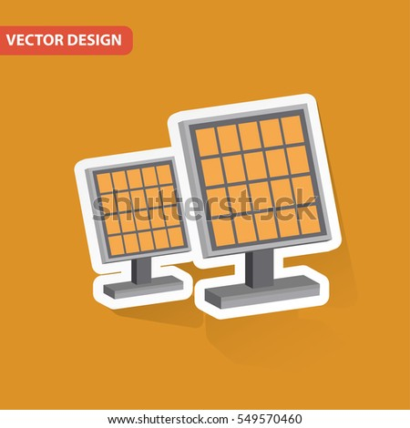 Solar design on clean background,clean vector