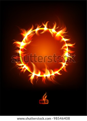 Solar eclipse illustration. Eps 10. - stock vector