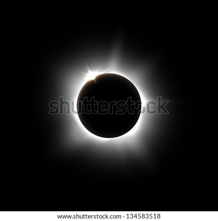 Solar eclipse, vector. Eps 10 - stock vector