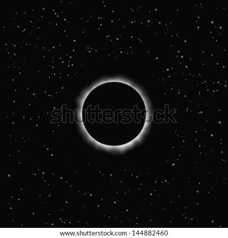 Solar eclipse, vector. Eps 10 - stock vector