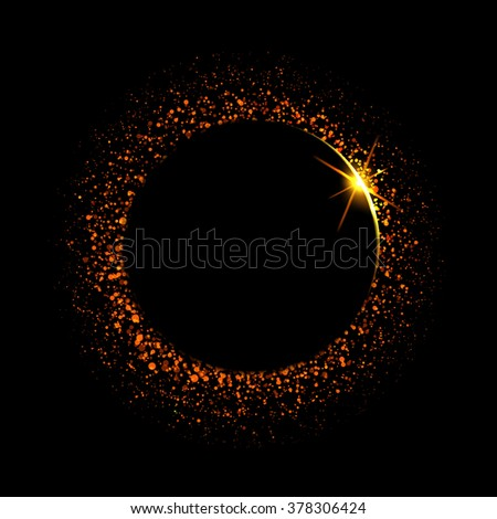Solar Eclipse. Vector sun, cosmic illustration. - stock vector