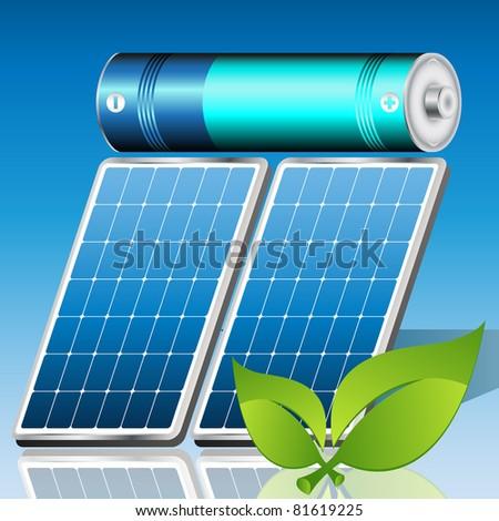 solar energy concept - stock vector