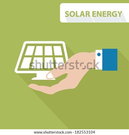 Solar energy concept,vector - stock vector