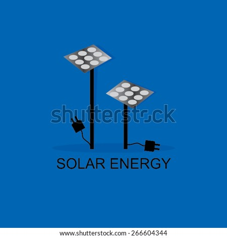 solar energy concept with panel - stock vector