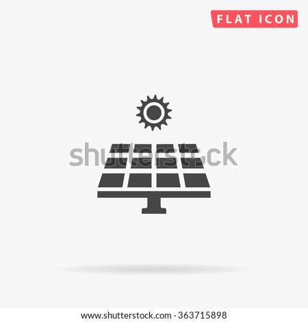 Solar energy Icon Vector. - stock vector