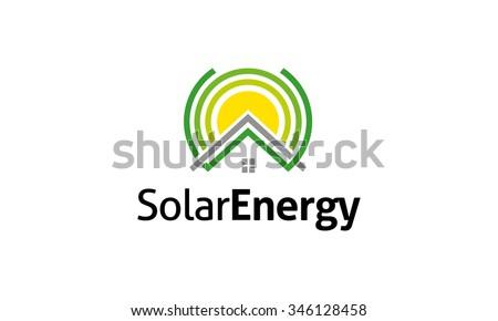 Solar Energy Logo - stock vector