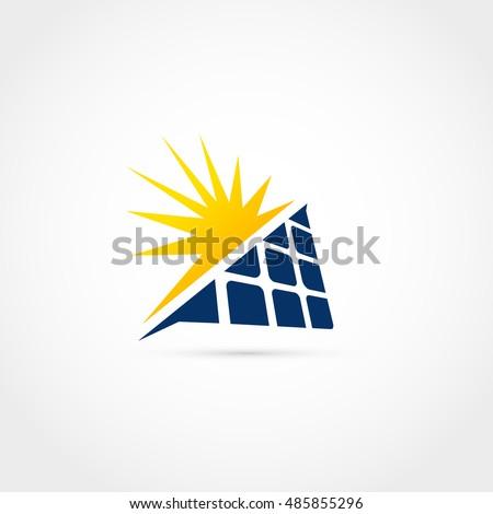 solar energy logo design stock vector 485855296 shutterstock