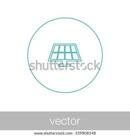 Solar energy panel. Concept flat style design illustration icon. - stock vector