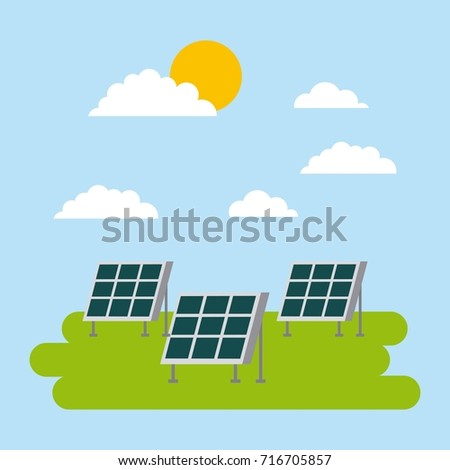 solar energy panel for ecology concept