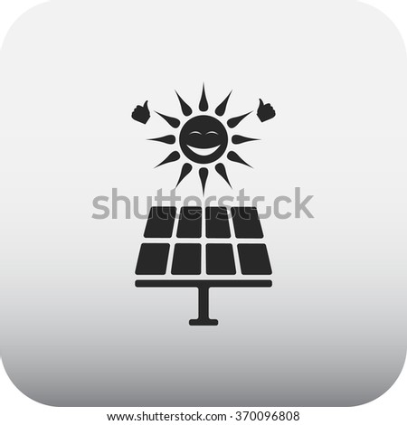 Solar energy panel simple icon on background
