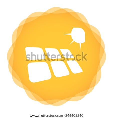 Solar energy template concept with abstract illustration - stock vector