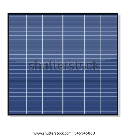Solar Panel Isolated on White - stock vector