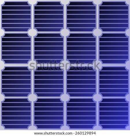 solar panel seamless background, solar energy concept. - stock vector