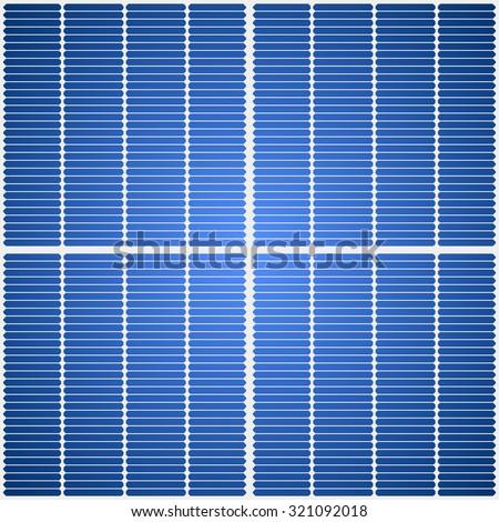 Solar panel seamless vector texture. - stock vector