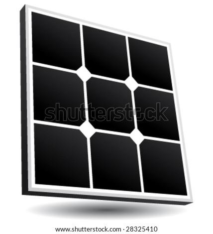 Solar panel vector icon - stock vector