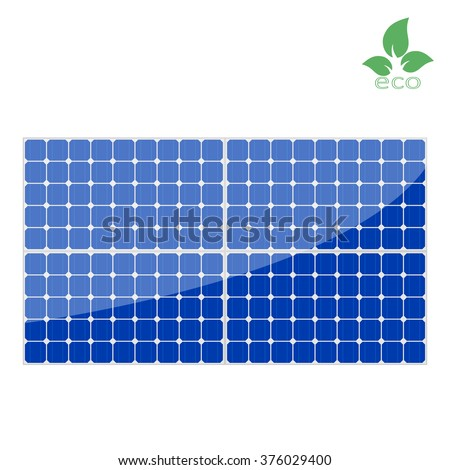 solar panels, clean energy, innovative technologies, cleanliness and economy, Power plant using renewable solar energy, vector illustration of solar panels - stock vector
