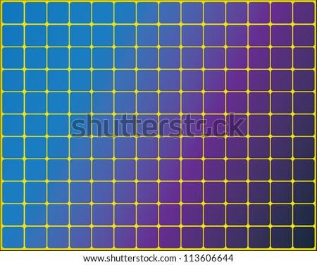 Solar panels on a yellow background. / Solar panels - stock vector