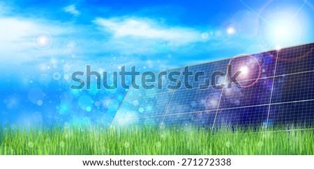 Solar solar background - stock vector