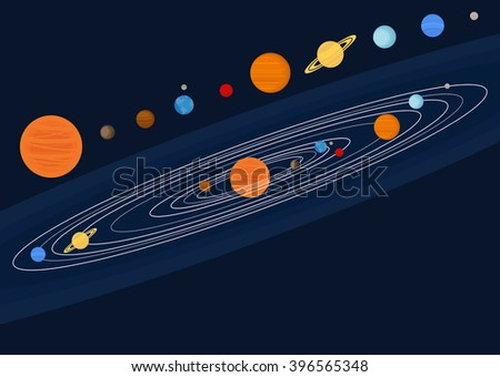 Solar Universe System Galaxy and Planet - stock vector