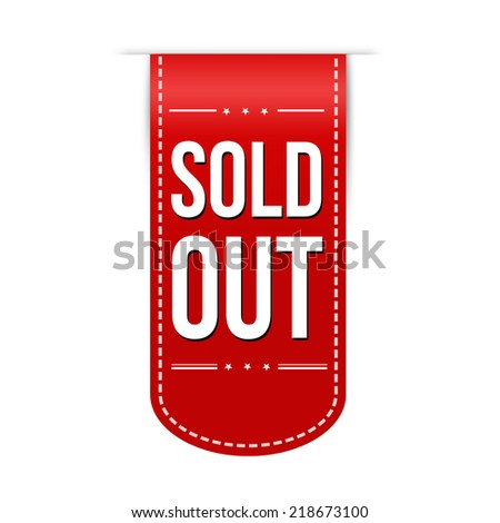 Sold out banner design over a white background, vector illustration - stock vector