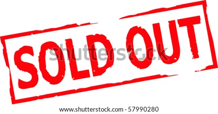 sold out grunge stamp vector illustration - stock vector