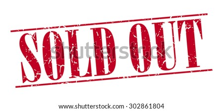 sold out red grunge vintage stamp isolated on white background - stock vector