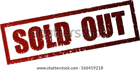 Sold out rubber stamp - stock vector