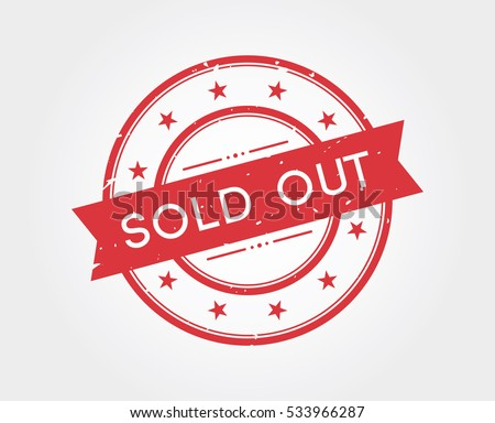 sold out stamp sign