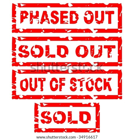 sold stamp - stock vector