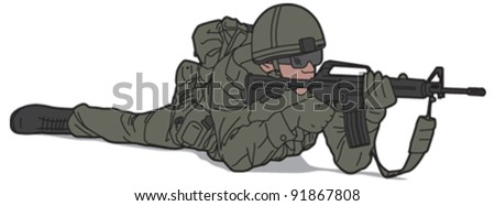 Soldier 5 - stock vector