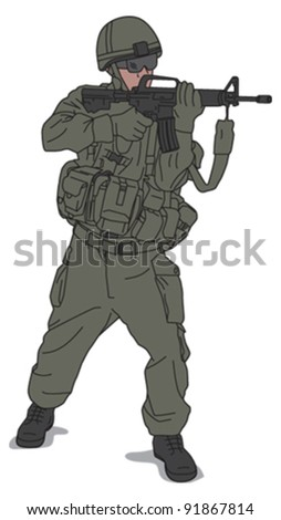 Soldier 2 - stock vector