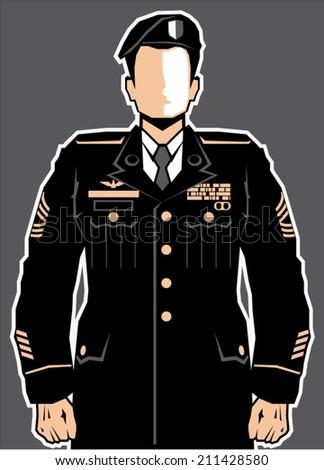 Soldier Hero vector - stock vector