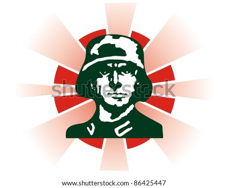 soldier military - stock vector