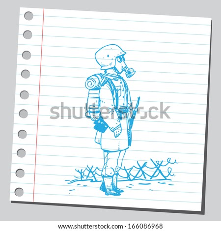 Soldier old fashioned - stock vector