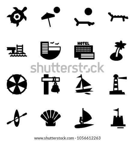 Solid Vector Icon Set Sea Turtle Stock Vector 1056612263 Shutterstock