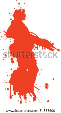 Solider red - stock vector