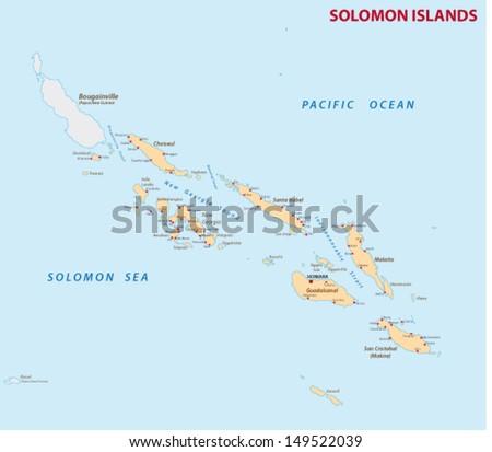 Solomon Islands Map Stock Vector 149522039 Shutterstock