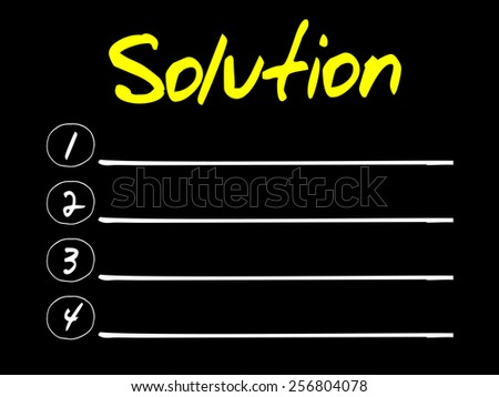 Solution blank list, business concept - stock vector