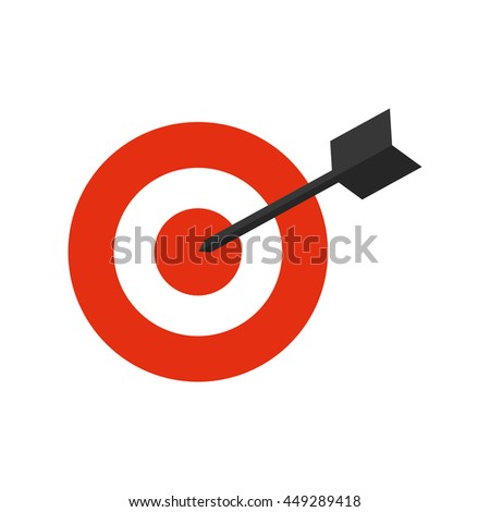 Solution concept represented by target icon. isolated and flat illustration  - stock vector