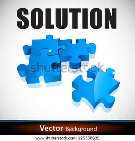 solution puzzle - stock vector