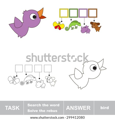 Solve the rebus. Find hidden word BIRD.Task and answer. Search the word.
