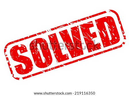 Solved red stamp text on white - stock vector