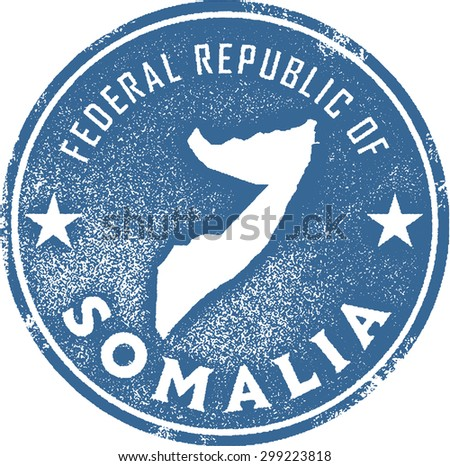 Somalia Africa Country Stamp - stock vector